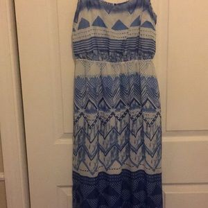White and Blue Old Navy Women's Dress